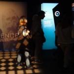 Ambiance scénographique de l'exposition Stars Wars Identities à la Cité du Cinéma, une salle au centre de l'exposition, Copyright Ambrefield 2014