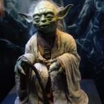 Maître Yoda, personnage en cire présenté à l'exposition Stars Wars Identities, Cité du Cinéma, Copyright Ambrefield 2014